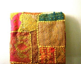 vintage patchwork tapestry tribal folk art