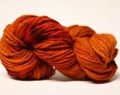Thick Thin Yarn Merino Slub tts(tm) Handdyed  Fine Merino 66tts12022 Burnt Orange