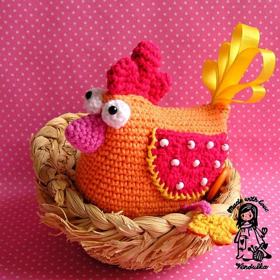 Crochet hen - pdf pattern, DIY