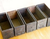 Antique Industrial Set of Five Drawers
