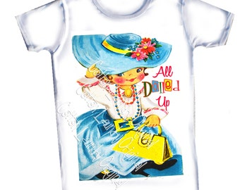 Vintage childrens tshirt, tank....All Dolled Up...