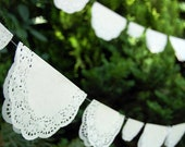 Wedding Lace Doily Garland / READY to HANG / Sold in 10 ft increments