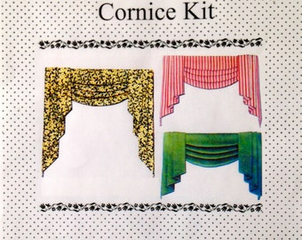 Dollhouse Classic Swag and Tails window cornice