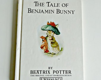 Vintage Book Beatrix Potter The Tale of Benjamin Bunny