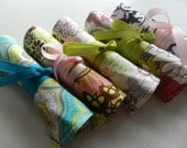 Bridesmaid Gift/Favor for Bridal Party of 5 Travel Jewelry Roll Organizers