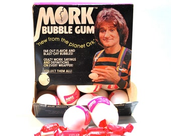 Mork Bubble Gum Eggs Lot of 2 Eggs 1978