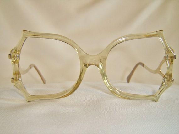 Designer Eyeglass Frames With Crystals : Vintage 80S Cut Crystal Designer Eyeglasses Unique