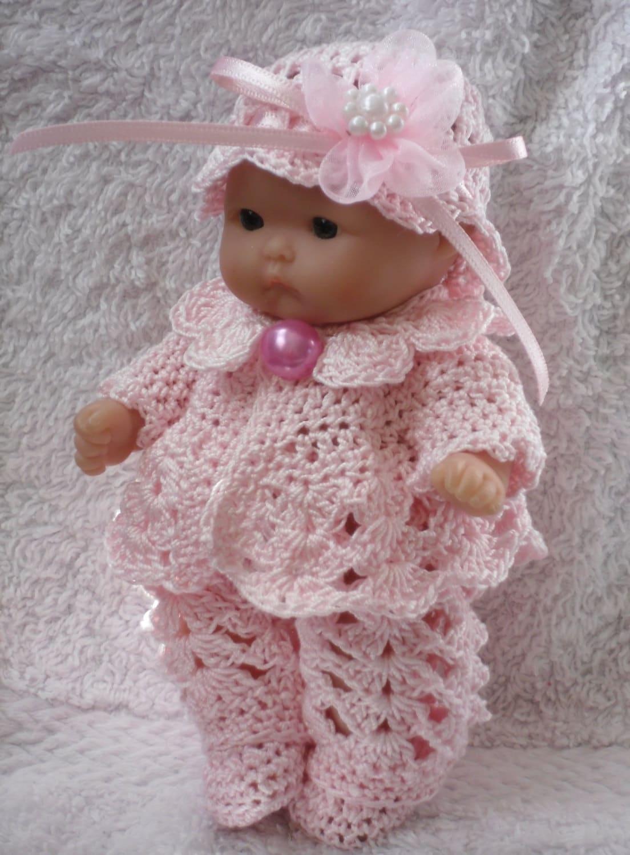 Crochet Pattern Mickey Mouse Doll : Crochet pattern for Berenguer 5 inch baby doll jacket