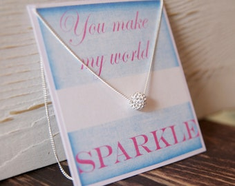 Best Friend Gift Ideas/ Weddings Gift with Card/Bridesmaid Necklaces/Gift with Card for Bridesmaid