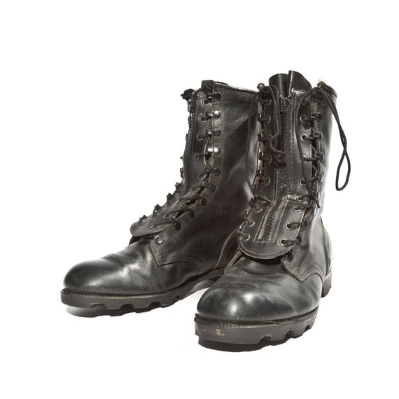 Men's Vintage Combat Boots Military Standard Issue Zipper
