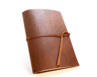 Moleskine Leather Cover for (2) 13x21cm cahiers with Interior Leather Pocket- COVER ONLY