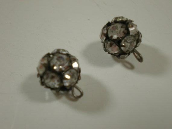 Rhinestone Ball Buttons // Set of 2 // OOO SHINY //
