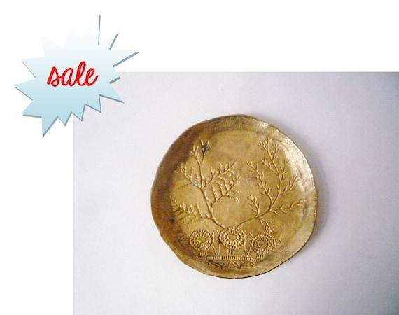 SALE Vintage Brass Plate
