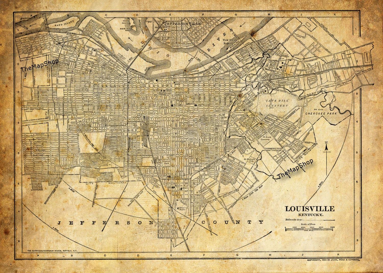 Louisville Ky City Street Map