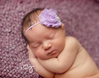 Baby Girl..Baby Headband..Baby Headbands..Lavender Headband..Light Purple Headband..Purple Baby Headband..Skinny Lavender Headband
