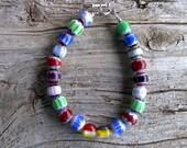 Chevron beaded bracelet 8 1/4 inch