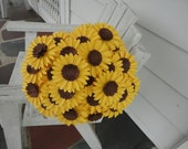 Paper Sunflower Bouquet - RESERVED