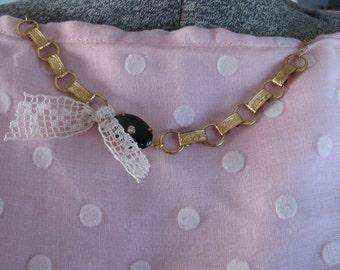 Classic Black and Gold Vintage Bracelet