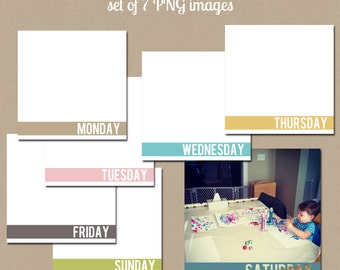 4x4 Instagram Photo Templates-Days of the Week