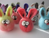 Custom Needle Felted Micro Easter or Anytime Bunny Rabbit