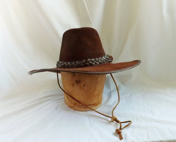 San Francisco Ts >> Mens Suede San Zeno Leather Handmade Cowboy Hat Large