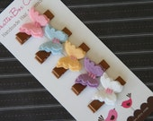 Butterfly Hair Clips Baby Hair Clips Baby Barrettes Toddler Hair Clips Girls Hair Clips Pastel Butterflies
