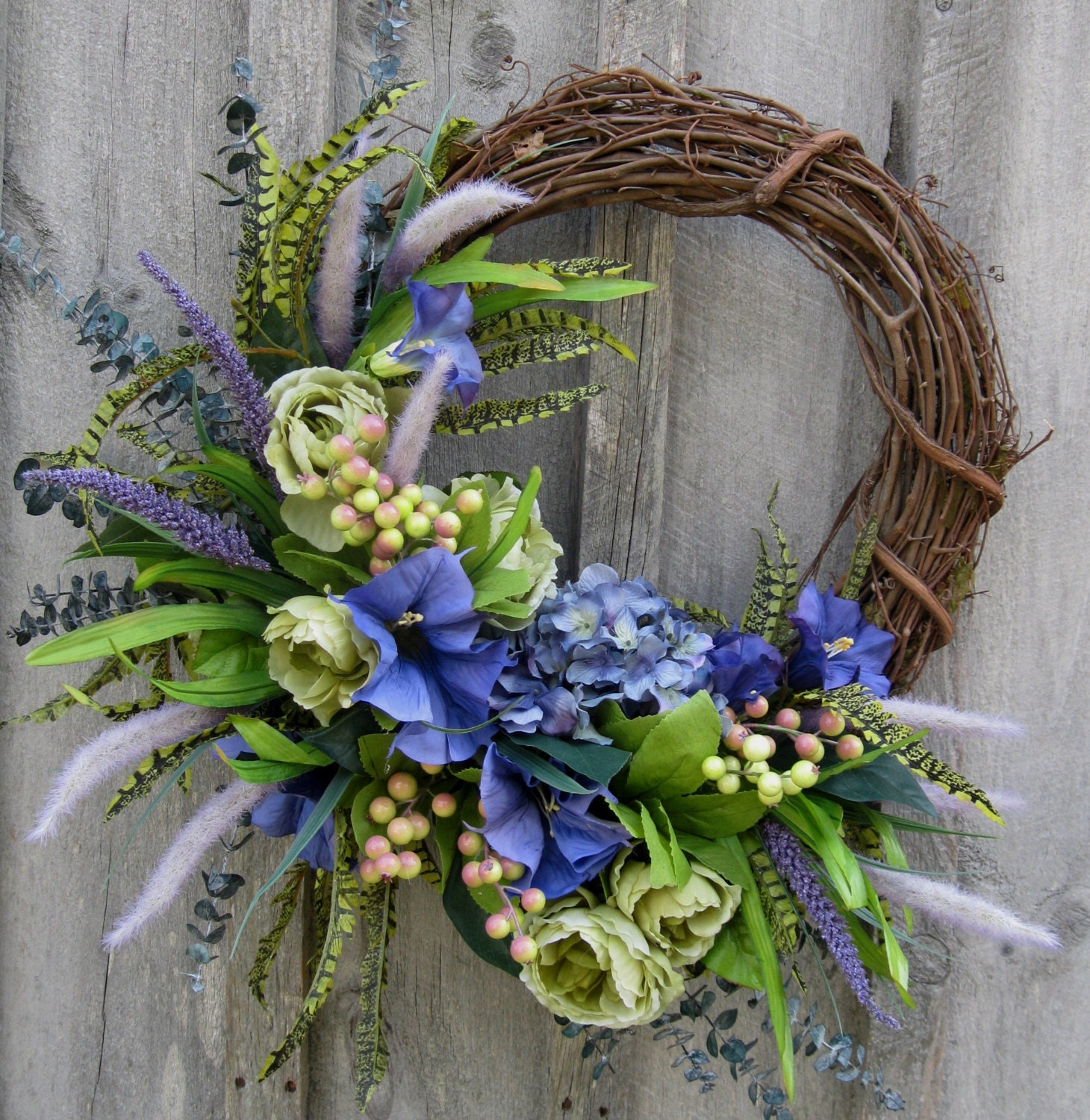 Floral Wreath Spring Door Wreath Summer Wreath Wedding |Spring Flower Wreath