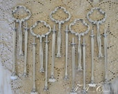 Small Clover Metal Cakestand Handle Hardware Style 12 SILVER Fitting 5 Set Lot  FREE Shipping