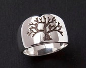 Tree of Life Ring - De-Ox Sterling Silver