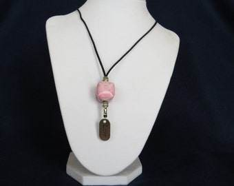 Fashion Jewelry - Pink Love Charm Adjustable  Necklace