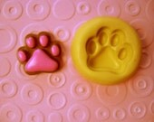 PAW mold   tiger dog cat print mold    FLEXIBLE  silicone food safe mold