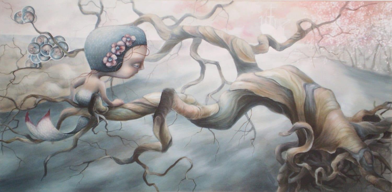"Original art ""Siren Song"" steampunk buy now online"