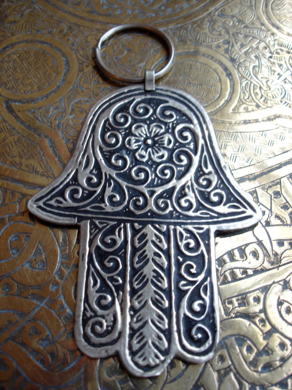 Moroccan Hand Of Fatima Pendant Wall Hanging 7