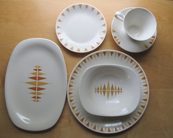 impromptu true china by iroquois a ben seibel design - pyramids pattern