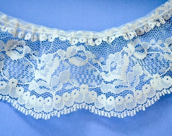 Ivory Lace, floral pattern, 3 yards