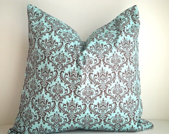 CLEARANCE - FREE US Shipping 18x18 Designer Pillow In Madison Blue  - Front And Back