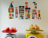 Jolly little houses wall decals