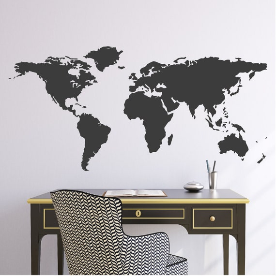 World Map Wall Vinyl Decal