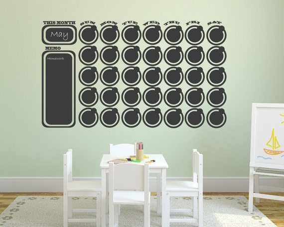 Chalkboard Wall Decal Collection Chalkboard Wall Decal Calendar