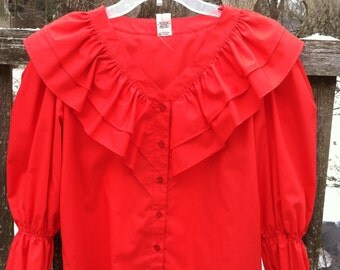 Vintage Malco Modes Square Dance Top size S