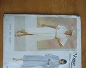 Vogue Pattern 1126 American Designer JOHN ANTHONY Misses' Dress 1980's  Uncut