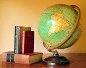 """Globe, Early 1940's, Cram's Universal Terrestrial, 12"""", World Globe, A Vintage Thing of Beauty"""