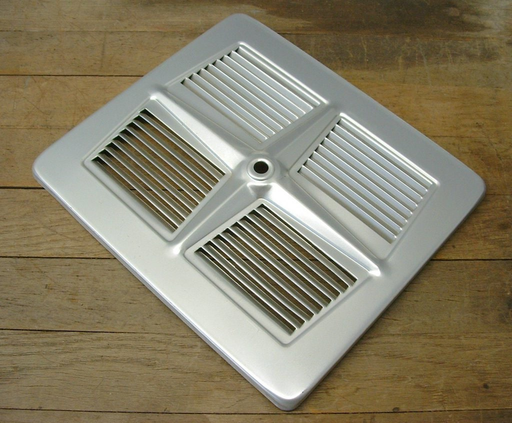 Vintage Retro Aluminum Exhaust Fan Grill Vent Cover Repurpose