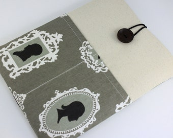 iPad Case, iPad Sleeve, iPad Cover, PADDED, with pockets for iPhone - Silhouette