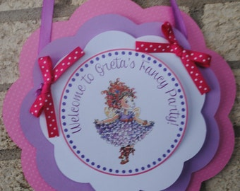 NEW - Fancy Nancy Door Sign