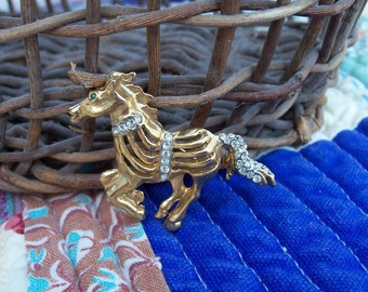 Brooch Equine In Motion With Pasties Barely Vintage Treasure