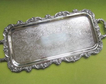 Vintage Silverplate Butler Tray