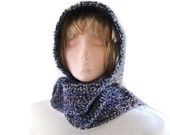 Hooded Scarf. Crocheted Wool All In One Hood & Scarf Combo, Winter Fashion Accessories, Hoodie, Men, Women,