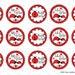 """15 Ladybug Big/Middle/Lil Sister Digital Download for 1"""" Bottle Caps (4x6)"""