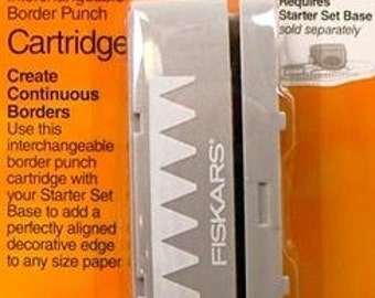 BANNERS AWAY - Fiskars Interchangeable Border Punch - Banners Away
